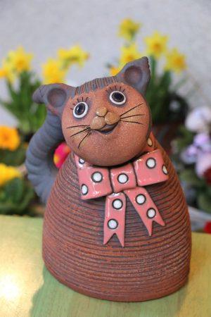 Kočka s mašlí, v 24 cm
