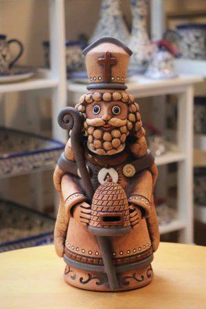 Svatý Ambrož – patron včelařů, 32 cm