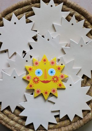 Keramická vymalovánka – sluníčko (bez dekoru), v 11 cm