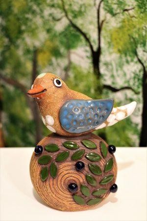 Ptáček s borůvkami, v 17 cm