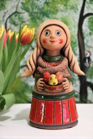 Děvče s kraslicemi, v 24 cm