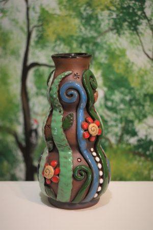 Váza s kytičkami, v 17 cm