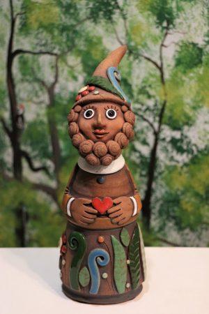 Lesní skřítek s čepicí malý, v 28 cm